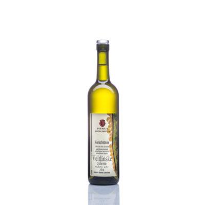 Neskorý zber  Veltlínske zelené, autochtónne víno suché