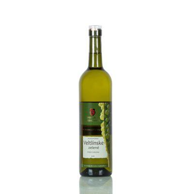 Autochtónne víno  Veltlínske zelené, neskorý zber suché .