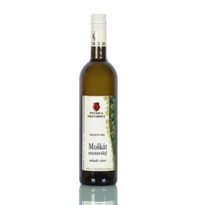 Mladé víno  Muškát moravský d.s.c., polosuché  NOVINKA